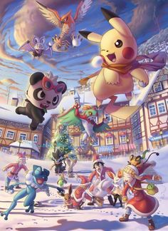 Ash Ketchum and Pikachu with Kalos friends ^.^ ♡ I give good credit to whoever made this