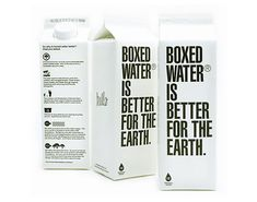 boxed water, water packaging, boxed beverages, product packaging, is boxed water better michigan, sustainable design, green design, products, recycled materials