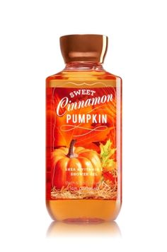 Sweet Cinnamon Pumpkin - Shower Gel - Signature Collection - Bath & Body Works - Wash your way to softer, cleaner skin with a rich, bubbly lather bursting with fragrance. Moisturizing Aloe and Vitamin E combine with skin-loving Shea Butter in our most irresistible, beautifully fragranced formula!