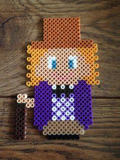 Willy wonka (Gene Wilder) Hama beads