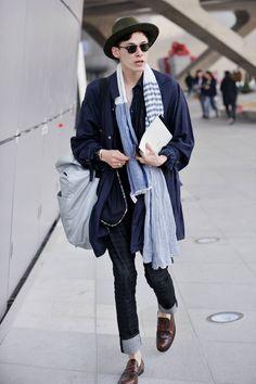 streetper.co.kr 김원중 Kim Won Jung (Model) 2014 F/W Seoul Fashion Week Day 3 Men's Style , korea Seoul 2014 mar 23