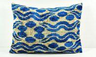 Velvet ikat pillow cover lp48