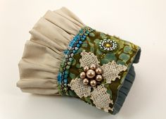 Your Gypsy Soul Fashion Cuff, Boho Chic Fabric Cuff. $54.00, via Etsy.