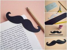 Mustache Bookmarker mustache art cool creative diy crafts easy crafts diy ideas diy crafts do it yourself crafty easy diy diy tips diy images do it yourself images diy photos diy pics easy diy craft. Easy Diy Crafts, Crafts For Kids, Arts And Crafts, Paper Crafts, Rose Carpet, Craft Tutorials, Diy Projects, Tutorial Diy, Photo Tutorial