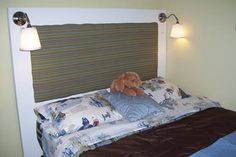Connors Headboard with Lights Furniture, House, Home, Lights, Bed, House Tours, Headboard, Bedroom, Bedroom Headboard