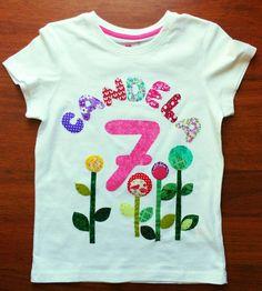Mira este artículo en mi tienda de Etsy: https://www.etsy.com/listing/231788474/camiseta-personalizada-flores-nina
