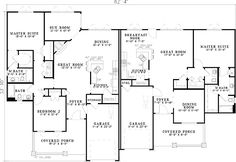 Craftsman Style Duplex House Plan - 59741ND | 1st Floor Master Suite, CAD Available, PDF | Architectural Designs
