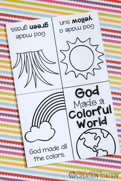 Free printable book for teaching colors bible crafts воскрес Toddler Sunday School, Sunday School Activities, Church Activities, Sunday School Crafts, Youth Activities, School Resources, Toddler Bible Lessons, Preschool Bible Lessons, Bible For Kids