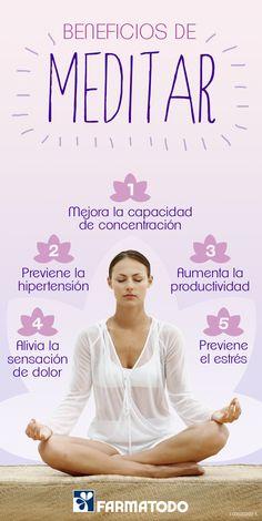 Conoce los beneficios de meditar #Salud #Cuerpo #Mente