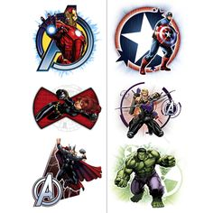 Avengers Assemble Party Temporary Tattoos $4.99 (includes Free U.S. Shipping)