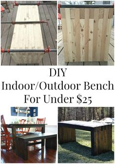 DIY Indoor/Outdoor Dining Bench - Pretty Handy Girl