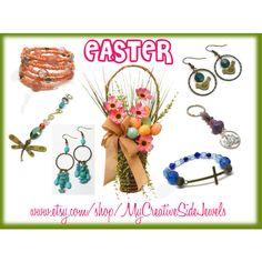 Easter Gift Ideas by vanessa-stuart-carretta on Polyvore featuring https://www.etsy.com/shop/MyCreativeSideJewels