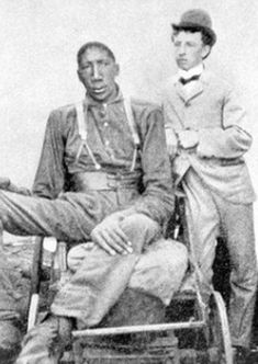 John William Rogan (1868- September 1905) Sumner County, Tennessee, USA is one of 16 individuals  history to reach eight feet or more. He was also known as Bud Rogan. He began to grow very rapidly at the age of 13 leading to Ankylosis, and eventually he could not stand or walk. He moved around in a cart that he had made himself from his bed, pulled by goats.he measured 8 feet 8 inches  tall but weighed 175 pounds, making him the tallest African-American, and the second tallest man ever recor...