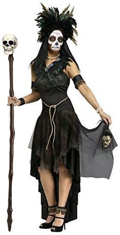 Voodoo priestess costumes are thrilling and exciting for Halloween. You can buy one of the exotic ready-made costumes available or make your own. Halloween Prop, Voodoo Halloween, Last Minute Halloween Costumes, Halloween Kostüm, Halloween Makeup, Women Halloween, Halloween Decorations, Voodoo Priestess Costume, Voodoo Costume