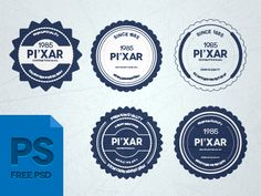 28 Psd Badges ( Free ) by Wassim