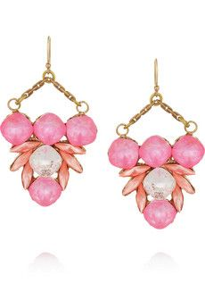 Lulu Frost Triangle Drop gold-plated crystal earrings | NET-A-PORTER