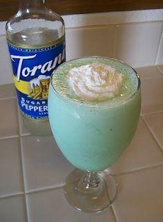 Protein Shamrock Shake goodness. Simple and Tasty! (using vanilla greek yogurt instead of milk to make it creamy! :)