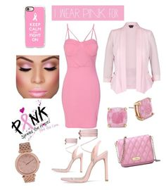 """Pink Lady."" by dantzlerjazmin on Polyvore featuring WithChic, Casetify, Kate Spade, City Chic, MICHAEL Michael Kors and IWearPinkFor"
