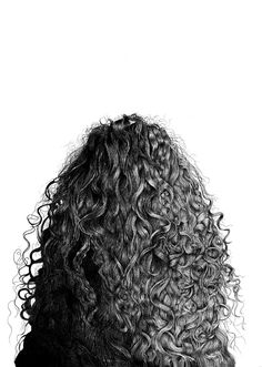 "Saatchi Online Artist: Alan Fleming; Graphite, Drawing ""Mariana""  Well hey dere this looks familiar...CURLY HAIR."