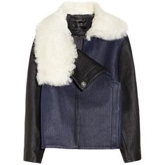 Proenza Schouler Shearling-collared quilted leather jacket (£1,394) found on Polyvore