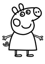 Kids-n-fun | 20 coloring pages of Peppa Pig