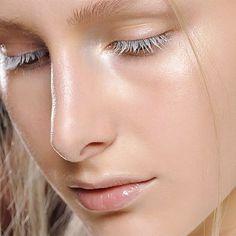 White lashes.