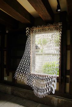 knit curtain  made with paper