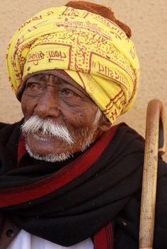 India - Gujarat  Rabari man in Bhujodi village.