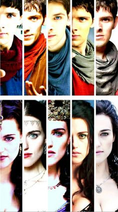 Merlin changed SO MUCH! But Morgana didn't really physically change, she just became more bitter and full of hatred..