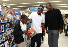 Tony Allen and Zach Randolph of the Memphis Grizzlies host a holiday shopping spree for 200 Memphis-area children who participate in surrounding Boys & Girls Clubs.