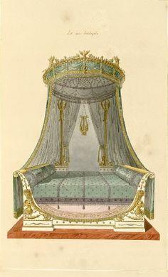 « Recueil de décorations intérieures » : lit à baldaquin - Les Arts Décoratifs - Site officiel