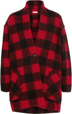 Gabrie Plaid Wool-Blend Coat Étoile Isabel Marant