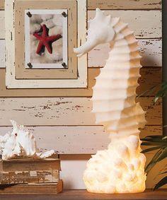 White Seahorse Lamp #zulily #zulilyfinds