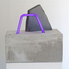 "Esther Ruiz - ""Double Occupancy"" - Hydraulic Cement/ Black Galaxy Granite/ Neon"