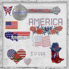 Scrapbooking TammyTags -- TT - Designer - Zirconium Scraps,  TT - Item - Element, TT - Theme - Patriotic or July 4th