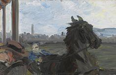 Jack Butler Yeats (Irish, The Trotter, Oil on panel, 9 x 14 in. Irish Painters, Jack B, William Butler Yeats, Irish Culture, Irish Art, Equine Art, Beautiful Artwork, Impressionist, Equestrian