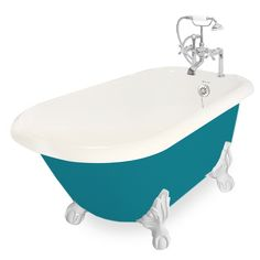 Beautiful Jester AcraStone Clawfoot Tub smooth to the touch inside and out. Perfected the traditional clawfoot bathtub with detail and devotion. AcraStone material is extremely durable, backed by a limited lifetime warranty. This Traditional Jester Cla Small Tub, Clawfoot Bathtub, Bath Tub, Color Shapes, Metal Finishes, Out Of Style, Color Splash, Faucet, All In One