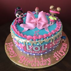 ideas for party birthday cakes Doll Birthday Cake, Funny Birthday Cakes, 7th Birthday, Birthday Ideas, Zoe Cake, Surprise Cake, Surprise Birthday, Lol Doll Cake, Doll Party