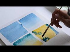 Apprendre l'aquarelle: techniques simples (couleurs) - YouTube