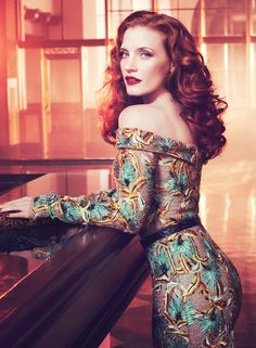 Jessica Chastain, hair color
