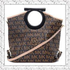 Michael Kors Signature MK Logo Clutches Brown only $72