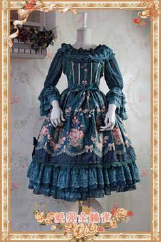 ✪ NEW ARRIVAL II: Infanta Love&Canary Prints Cotton Lolita Jumper Dress   ✪ In Stock