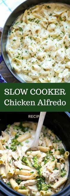 This is simply the perfect slow cooker Chicken Alfredo! Slow Cooker Pasta, Crock Pot Slow Cooker, Crock Pot Cooking, Slow Cooker Chicken, Slow Cooker Recipes, Cooking Recipes, Crockpot Chicken Alfredo, Italian Crockpot Recipes, Slow Cooker Casserole
