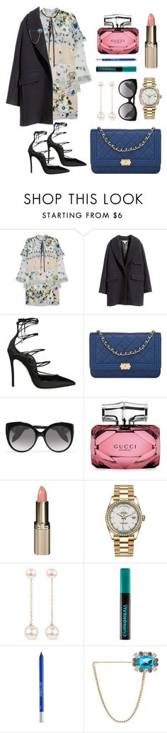"""Untitled #192"" by ivanov1234491 ❤ liked on Polyvore featuring Erdem, H&M, Dsquared2, Chanel, Alexander McQueen, Gucci, L'Oréal Paris, Rolex, Noa and Urban Decay"