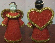 Anjo de Juta. Tamanho: 10 x 19 cm. É  preciso encomendar #natal #anjo #anjojuta  #christmas