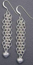 Barrel Weave Chainmaille Earrings   AllFreeJewelryMaking.com
