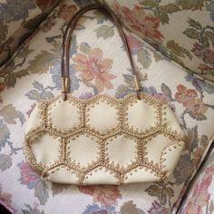 WAS NOW Gorgeous Vintage Boho Shabby Chic Ivory Leather Crochet Patchwork Handbag Crochet Purse Patterns, Crochet Tote, Crochet Handbags, Crochet Purses, Hippie Purse, Crochet Christmas Gifts, Fringe Bags, Boho Bags, Denim Bag