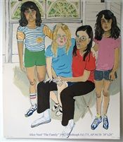 The Family, lithograph, 38 x 28 in (96.5 x 71.1 cm), 1982, by Alice Neel