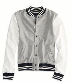 Love it.... gonna live in it!   AE Varsity Sweatshirt Jacket