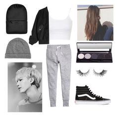 """""""Ideal type of Suga"""" by bts-outfit-imagines ❤ liked on Polyvore featuring H&M, Topshop, Alexander Wang, Equipment, Vans and Rains"""